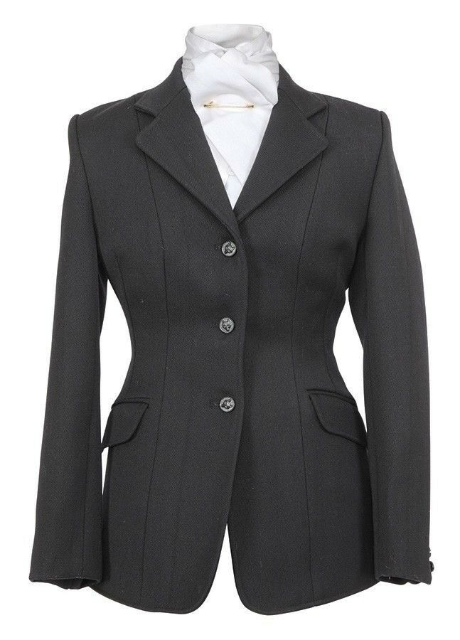Shires Ladies Marlbgoldugh Hunt Coat Worsted Wool with Satin Lining
