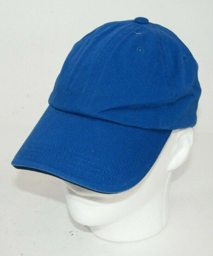 (15) PORT AUTHORITY BLUE WITH BLACK STRIPE CLOSURE C830 SANDWICH BILL CAPS HATS