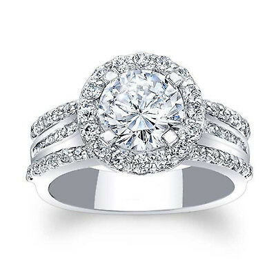 Fine Rings Sincere 1.88 Carat Round Cut Diamond Rings Solid Silver Rings Valentine's Women's Gift.. Fine Jewelry