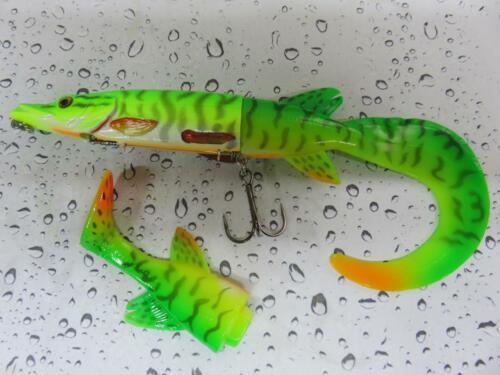 Nouveau Savage Gear 3D Hybride PIKE Firetiger Fishing Lure 17 cm 45 G /& De Rechange Queue
