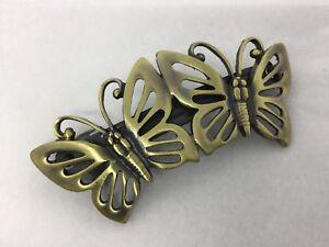 Livraison Rapide Papillon Cheveux Barrette Diapositive Poignée Antique Bronze Couleur-afficher Le Titre D'origine 50% De RéDuction