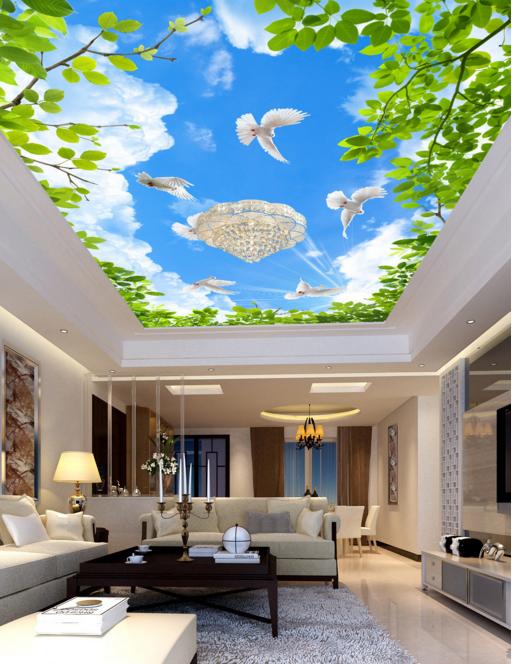 3D Blau Sky Pigeon 789 Wall Paper Wall Print Decal Wall Deco AJ WALLPAPER Summer