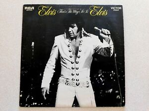 VINTAGE ELVIS PRESLEY~THAT'S THE WAY IT IS~1970~LSP-4445~RCA~33RPM