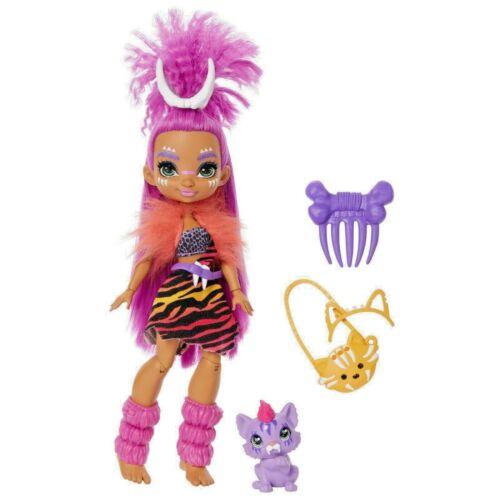 10-Inch Cave Club Roaralai Doll Prehistoric Fashion Doll With Dinosaur Pet