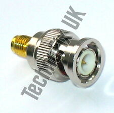 SMA female to BNC male adapter (SMA F to BNC M)