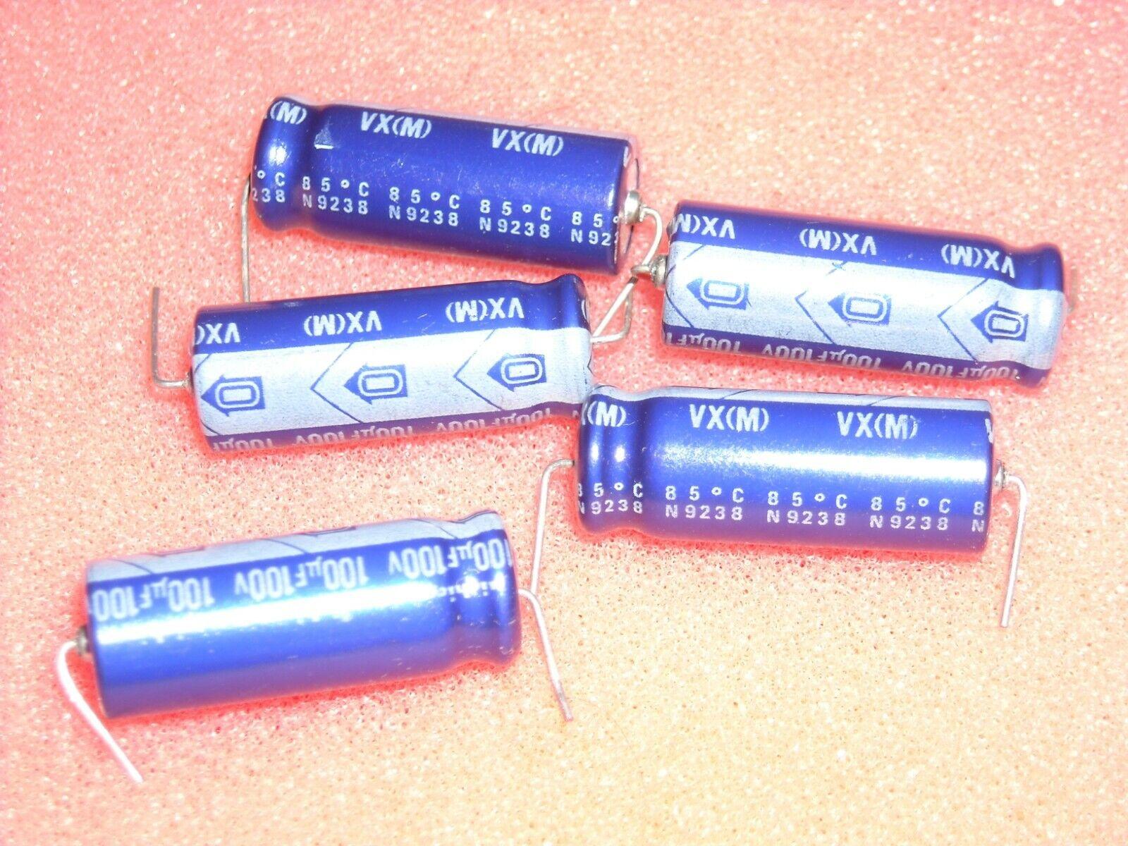 1 pc Nichicon Elko Kondensator axial  TVX2A221MCD  220uF  100V  13x26mm