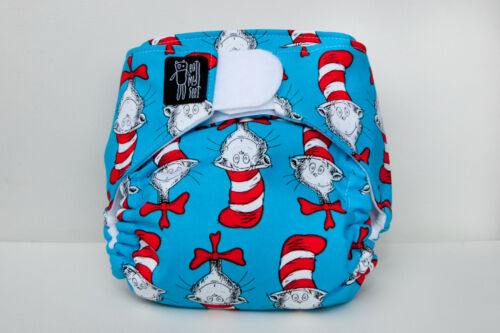 "Limited edition ""Cat in the Hat"" modern cloth nappy an eatmyfeet product"