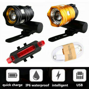 Bicycle-Front-Headlight-LED-15000LM-XM-L-T6-Rechargeable-USB-Bike-Rear-Light-Set
