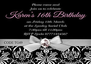 Details About Teenager Girl S Birthday Party Invitations Cards Any Age With Free Envelopes