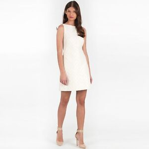 d00f27a1fc8b NWT Ted Baker London Lelli Textured Shift Dress Cream  345 - Ted 2 ...