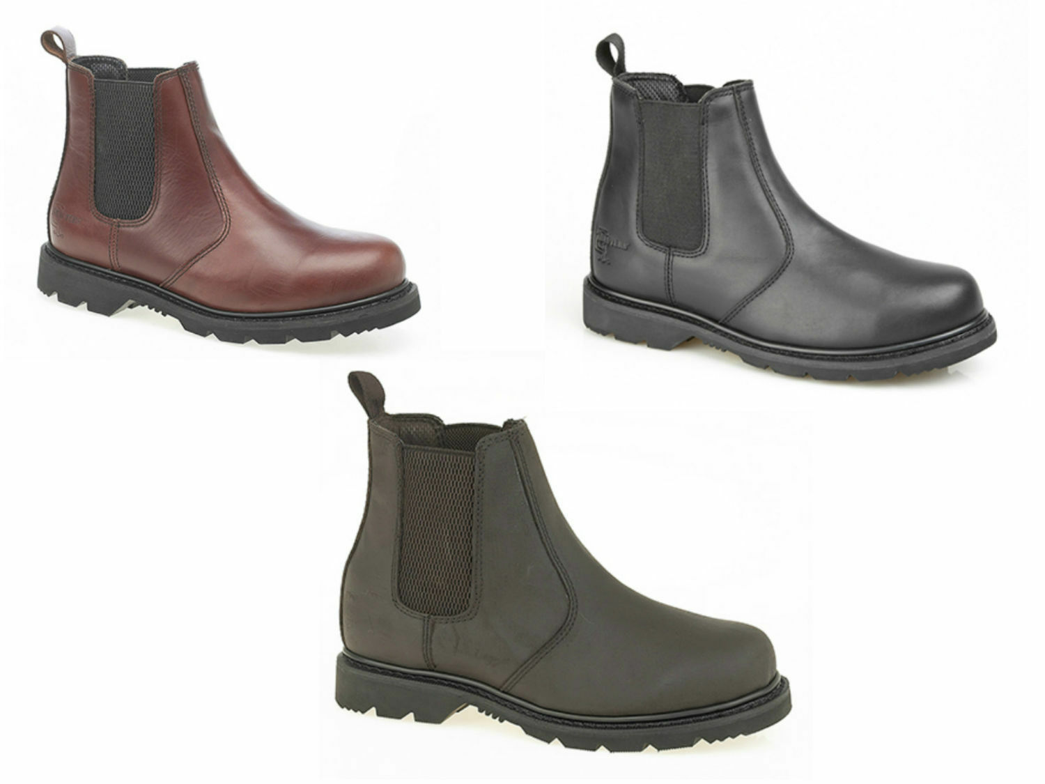 Mens BOYS LEATHER Chelsea Dealer Taglie Boots. GOODYEAR la suola. Taglie Dealer 6-12UK 3e05ef