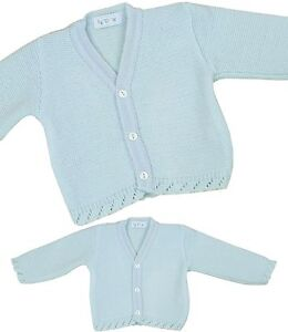 7bc8804d0207 BabyPrem Baby Boys Clothes Blue White Knitted Cardigan Sweater ...