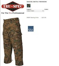Woodland Digital Camo BDU Military Uniform Cargo Pant by TRU SPEC 1942 NEW! XL R