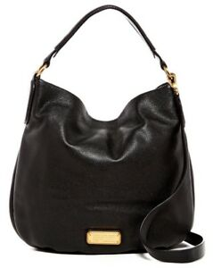 a7987fe3e97 NWT $430 Marc by Marc Jacobs New Q Hillier Leather Hobo Shoulder Bag ...