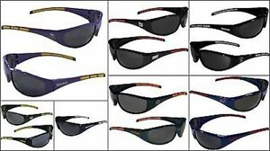 a13018082da6 Nfl Wrap 3 Dot Black Sunglasses Pick Your Team Football Sports Sun ...
