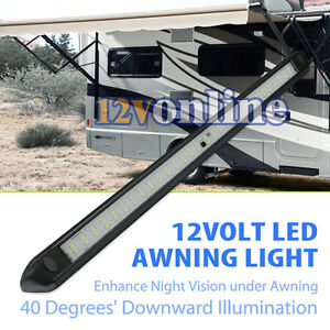 Image Is Loading Black 12V LED Awning Strip Light Exterior Camping