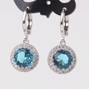 Luxury-Stunning-aquamarine-18k-white-gold-filled-promise-lady-dangle-earring