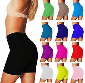 LADIES-WOMENS-CYCLING-SHORTS-DANCING-SHORTS-LYCRA-LEGGINGS-ACTIVE-CASUAL-8-26
