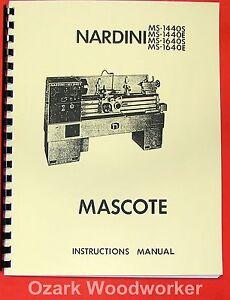 nardini ms 1440 1640 s e mascote lathe part manual 0483 ebay rh ebay com