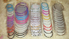 Joblot of 60 Pairs Mixed lot Metal Hoop Earrings - NEW Wholesale lot 1