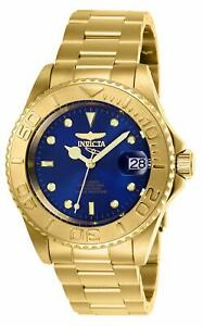 Gold Invicta Mens Pro Diver Automatic-self-Wind Stainless-Steel Strap 20