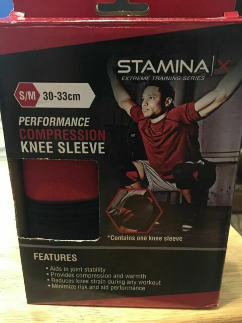 Stamina X Compression Genou Manches Taille S//M Workout Training Series New