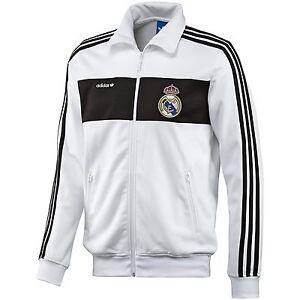 Dettagli su Adidas Originals Real Madrid Beckenbauer Giacca Bianco/Nero