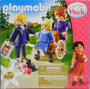 Playmobil-Heidi-70258-Clara-Rollstuhl-Vater-Fraeulein-Rottenmaier-2-Kaetzchen-NEU