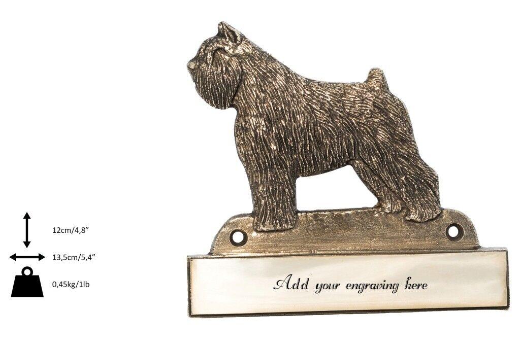 Bovaro delle Fiandre - iscrizione in ottone 'WELCOME', incisore Art Dog IT
