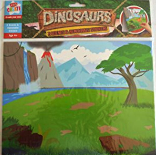 DINOSAUR THEME REX ORIGAMI FINGER PUPPET STICKERS PARTY STOCKING FILLERS XMAS