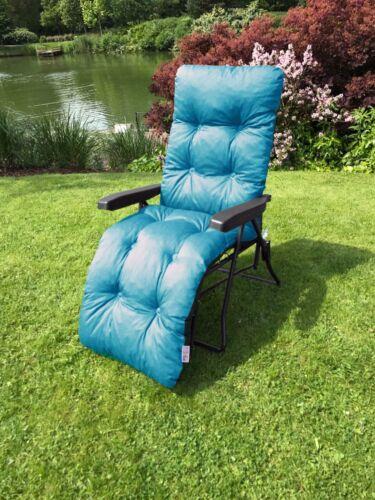 Plain Memory Foam Replacement Cushion Black garden Sun Lounger or Chair Frame
