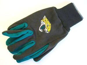 Jacksonville Jaguars Logo Gloves Embroidered Gloves NFL Football New