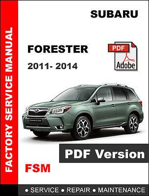 Subaru Forester 2011 2014 Factory Service Repair Fsm Manual Wiring Diagram Ebay
