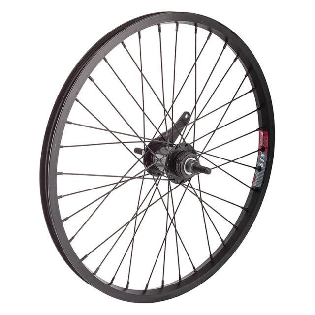 "Rim Brake Wheel Master 20/"" Alloy BMX Front Wheel Black"