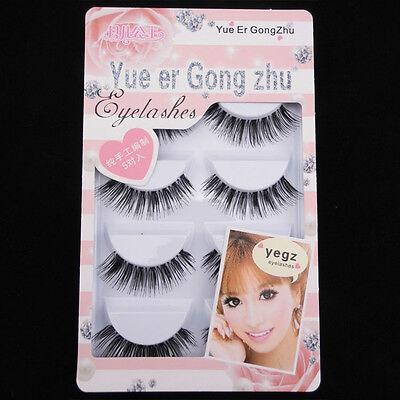 Sale! NEW IHW-10 5 pairs Clear band Nature False eyelashes fake eye lashes