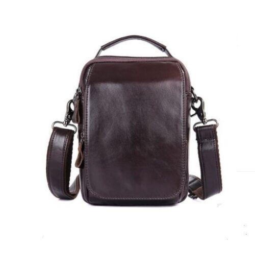 Messenger Shoulder Black Leather Retro Bag Men s S Genuine Cow brown Purse  Real gwxSngXfOq 299ac6b3d27cc