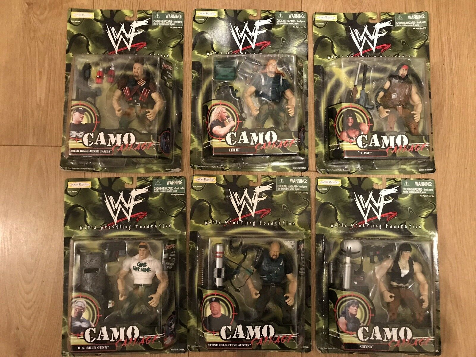 Rare Ultimate WWF WWE Figure Collection Bundle Unopened BNIB Camo Carnage X6