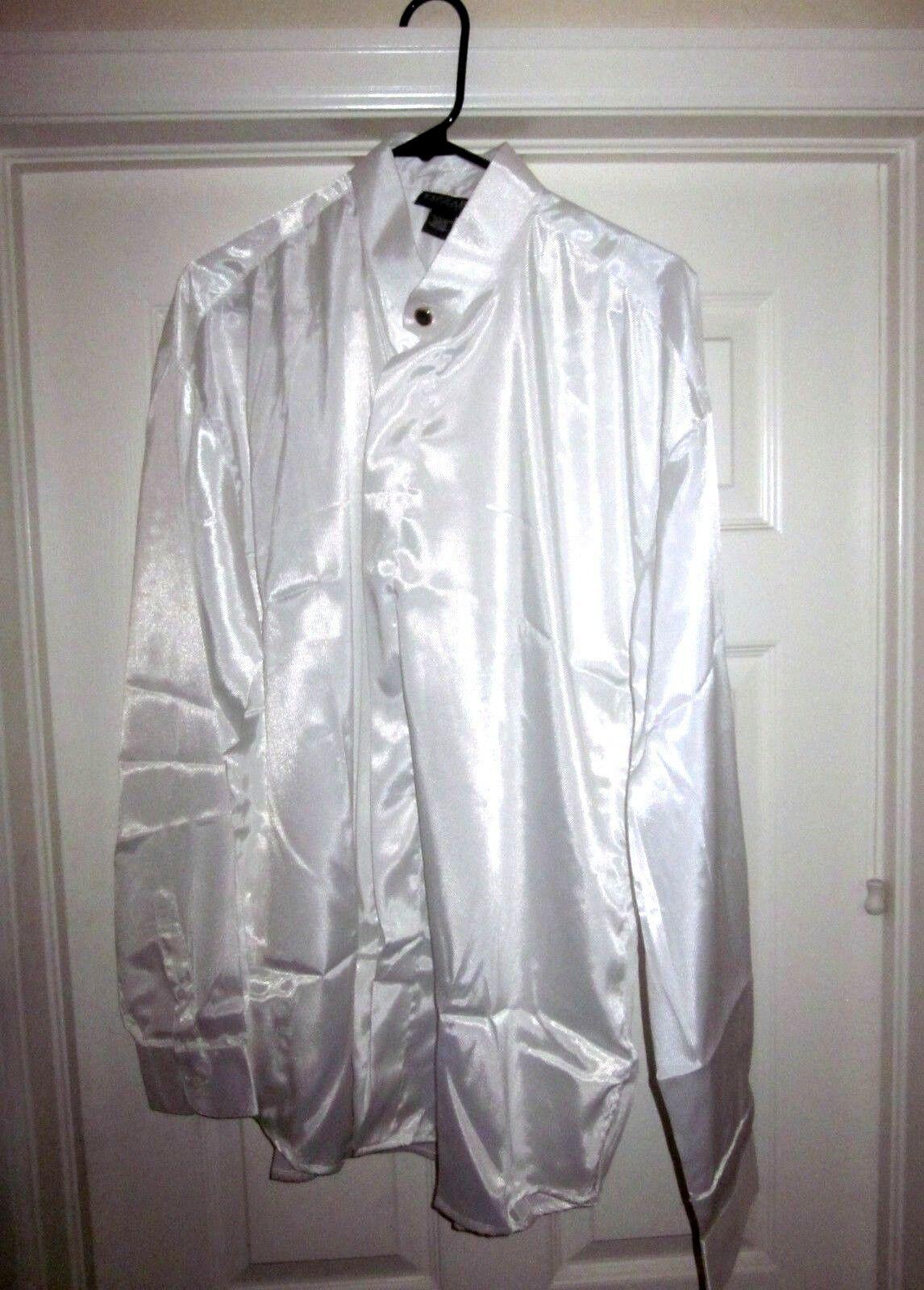 FIZZARO Sultanate Of Oman Men's Long Sleeve Dress Shirt XL 100% Polyester