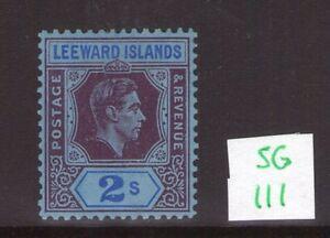 Leeward-Islands-George-VI-SG111-2-single-multi-colour-lightly-hinged