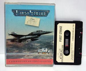 FIRST-STRIKE-ELITE-COMMODORE-64-e-128k-CBM-DATASSETTE-w-o-MANUAL-UK-FR1-65541