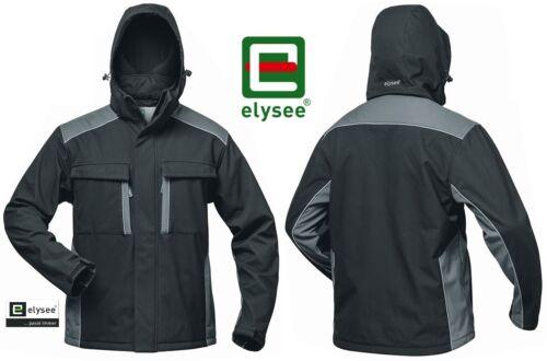 Softshelljacke von elysee® schwarz//grau Kälte Bau Winter Arbeitsschutz Jacke