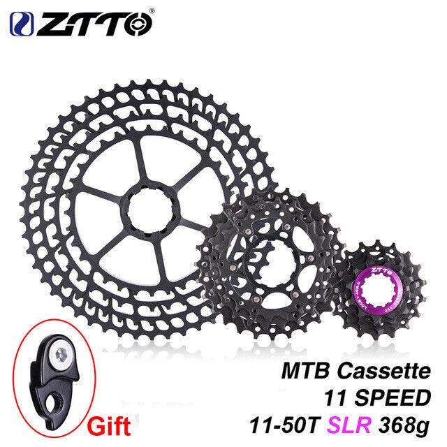 Ztto 11 Velocidades Mountain Bike Cassette SLR 11-50T 11s 11v k7 Ultralight 368g CNC