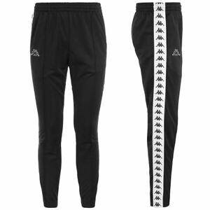 Pantalone-Tuta-uomo-Kappa-222-Astoria-slim-Bande-Omini-301EFS0-senza-polsino