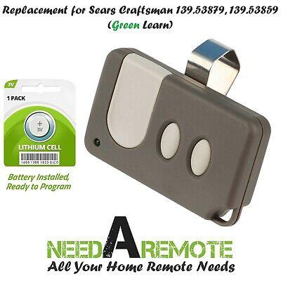 Craftsman Garage Door Opener Visor Remote Control For 139.53859 139.53879
