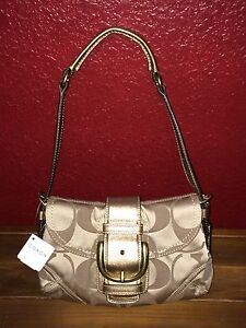 Image Is Loading 100 Authentic Coach 13042 Nwt Soho Signature Small
