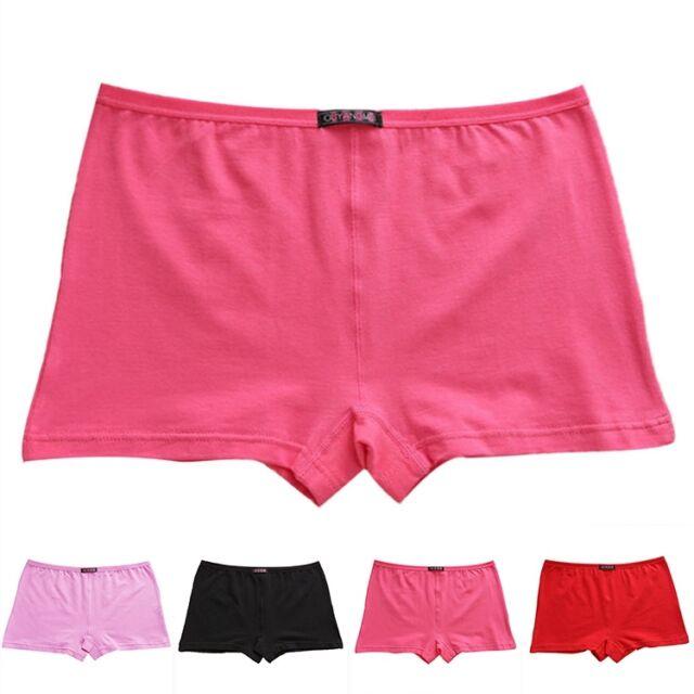 Women New Soft Cotton Boyshorts Seamless Underpants Knickers Underwear Panties