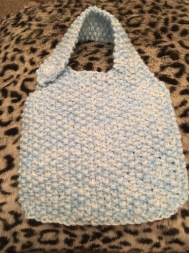 Hand knitted baby bibs