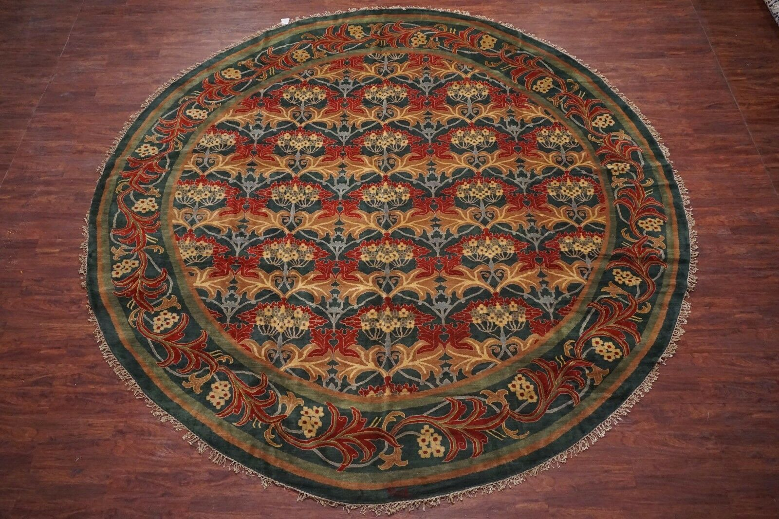 Hand Knotted 14X14 Round William Morris