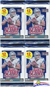 4-2017-Score-Football-HUGE-Factory-Sealed-Retail-Packs-48-Cards-Mahomes-RC-Yr