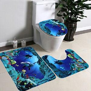 3Pcs-Ocean-Toilet-Seat-Cover-Pad-Cartoon-Bathroom-Bath-Non-Slip-Lid-Mat-Rug-Set